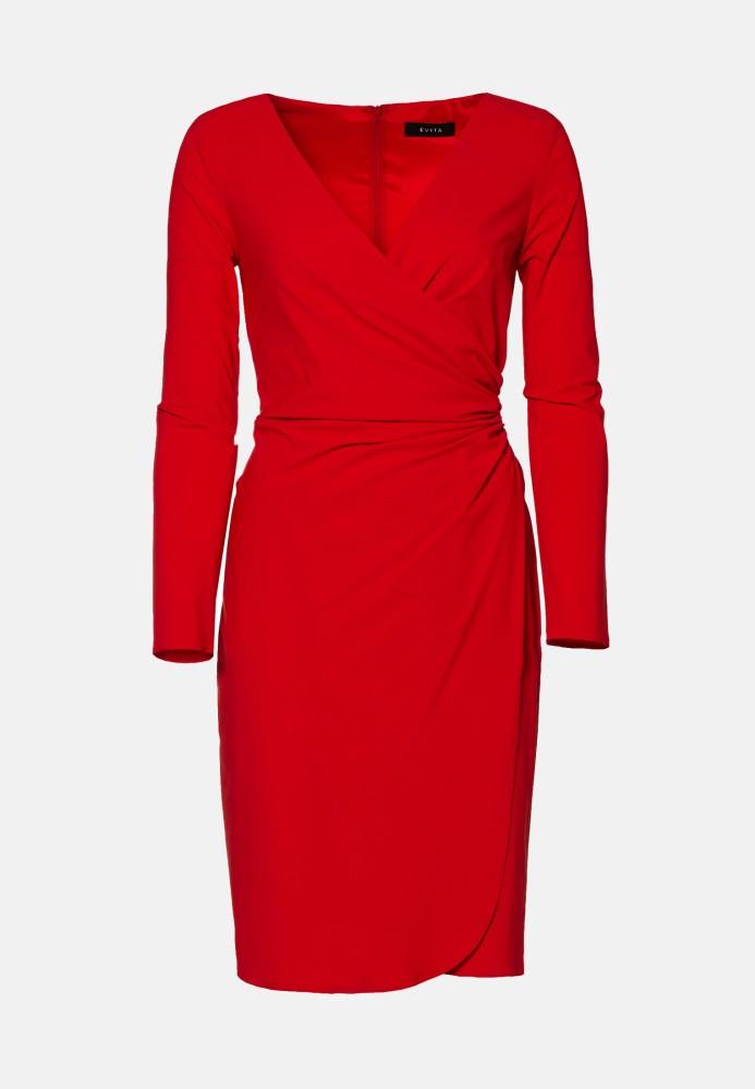 Kleid kurz red - Stretch