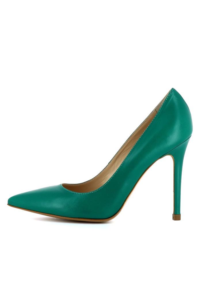 ALINA grün - Glattleder