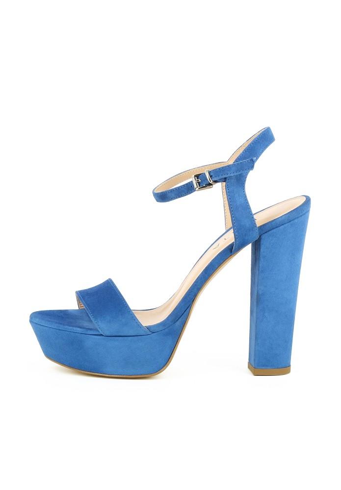 STEFANIA blau - Rauleder