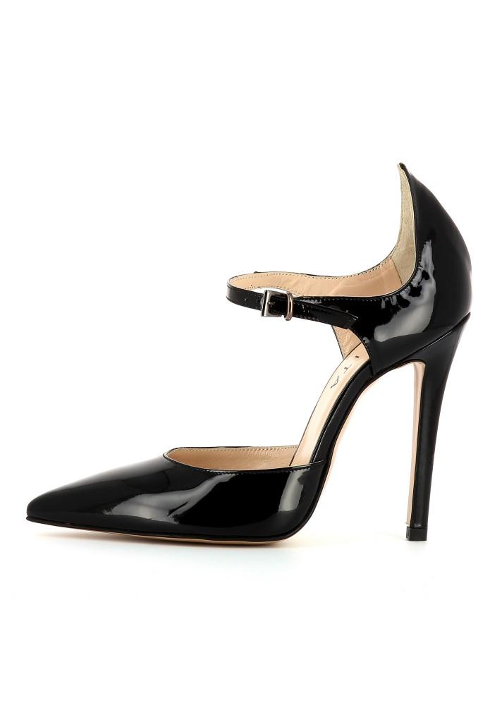 LISA schwarz - Lackleder