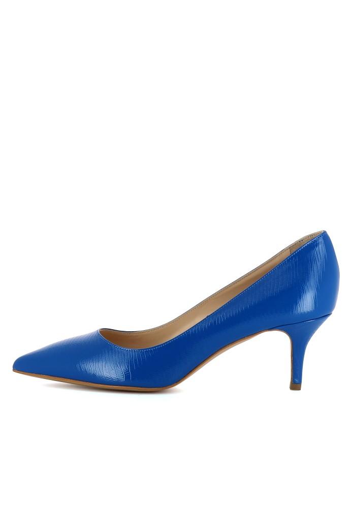 GIULIA blau - Lackleder mit Prägung