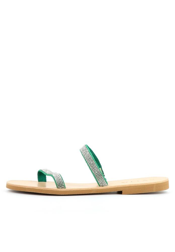 GRETA grün - Rauleder