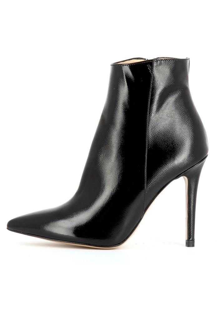 ALINA schwarz - Lackleder mit Prägung