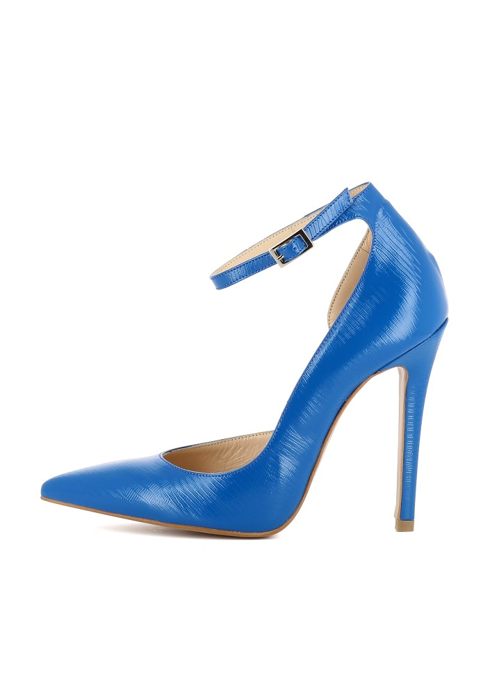 LISA blau - Geprägtes Leder