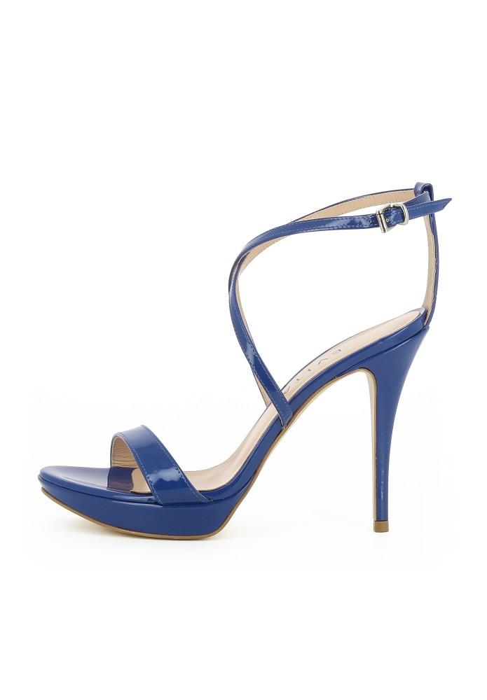 VALERIA blau - Glanzleder