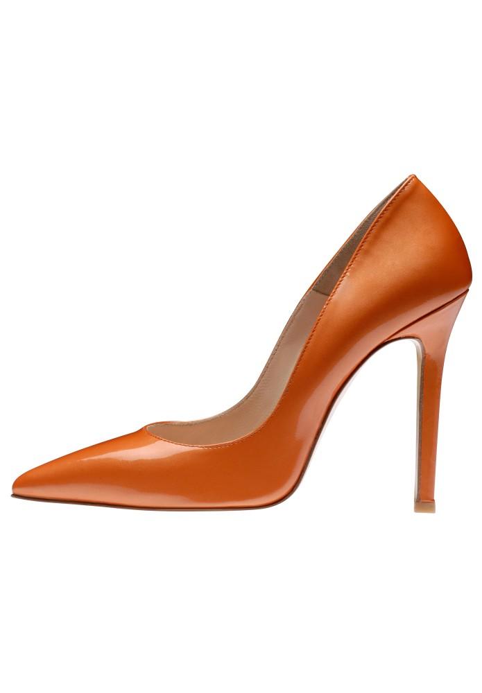 MIA orange - Glanzleder