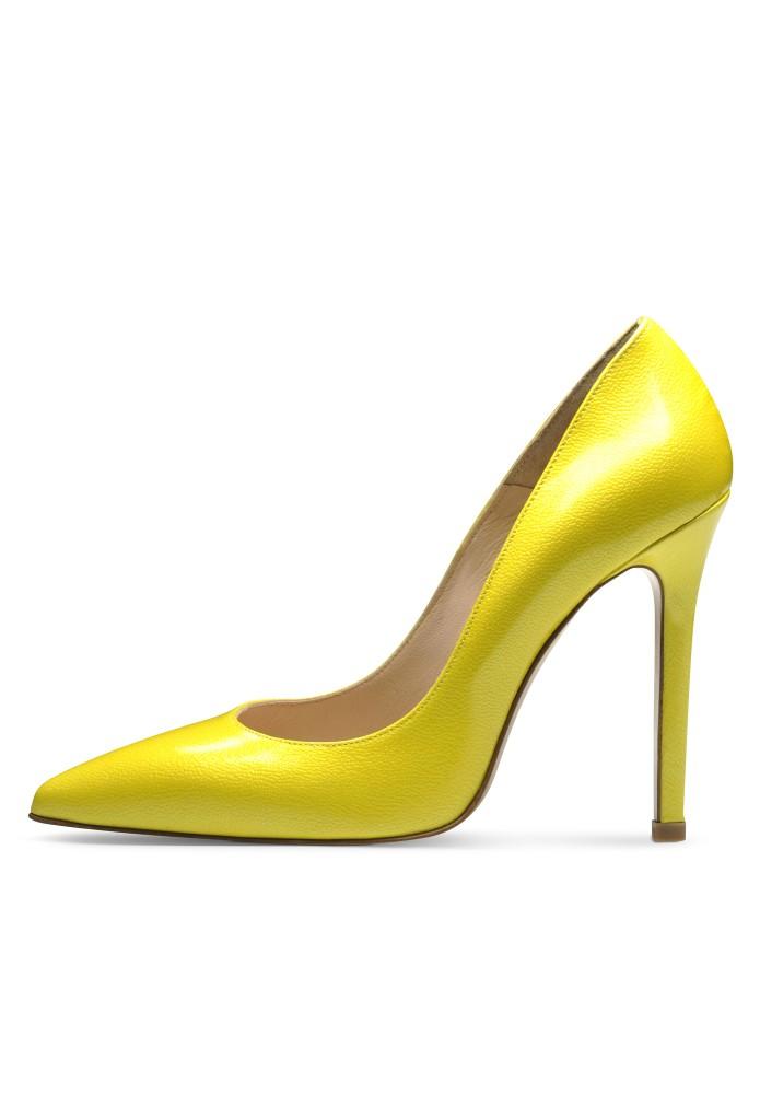 MIA gelb - Lackleder mit Prägung