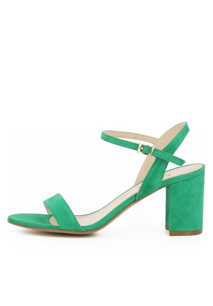 AMBRA grün - Rauleder