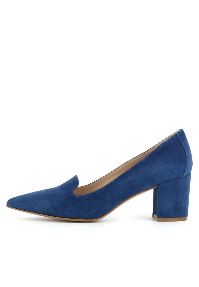 ROMINA blau - Rauleder