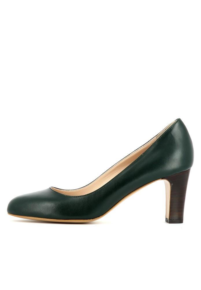 BIANCA dunkelgrün - Glattleder