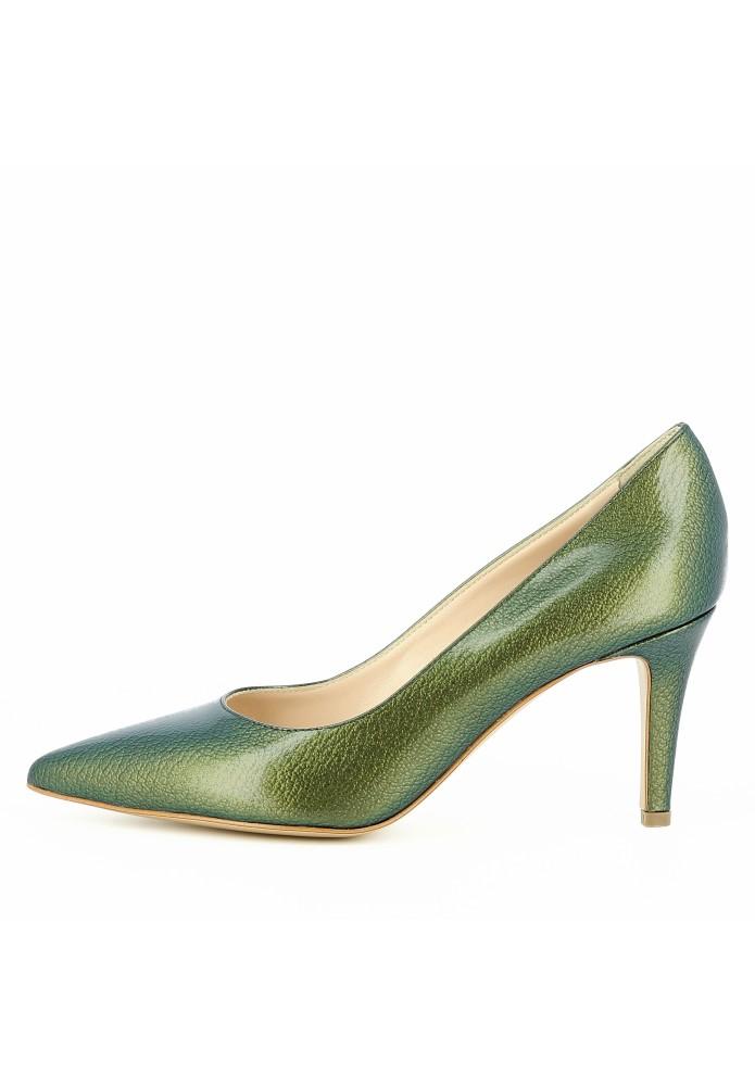 ARIA grün - Lackleder mit Prägung