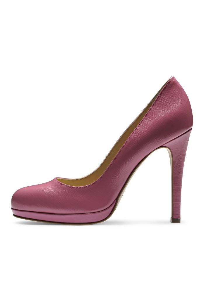 CRISTINA rosa - Lackleder mit Prägung