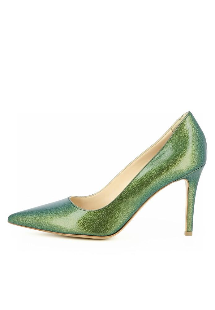NATALIA grün - Lackleder mit Prägung