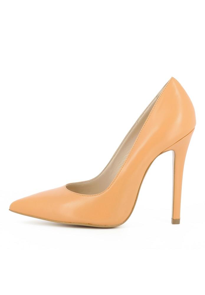LISA orange - Glattleder