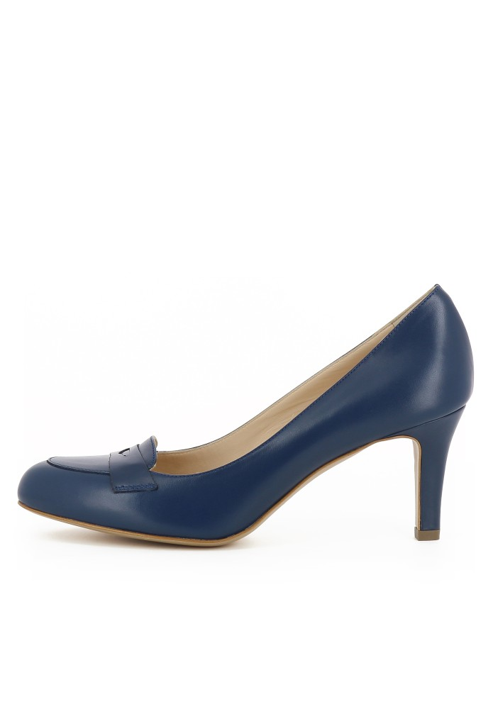 BIANCA blau - Glattleder