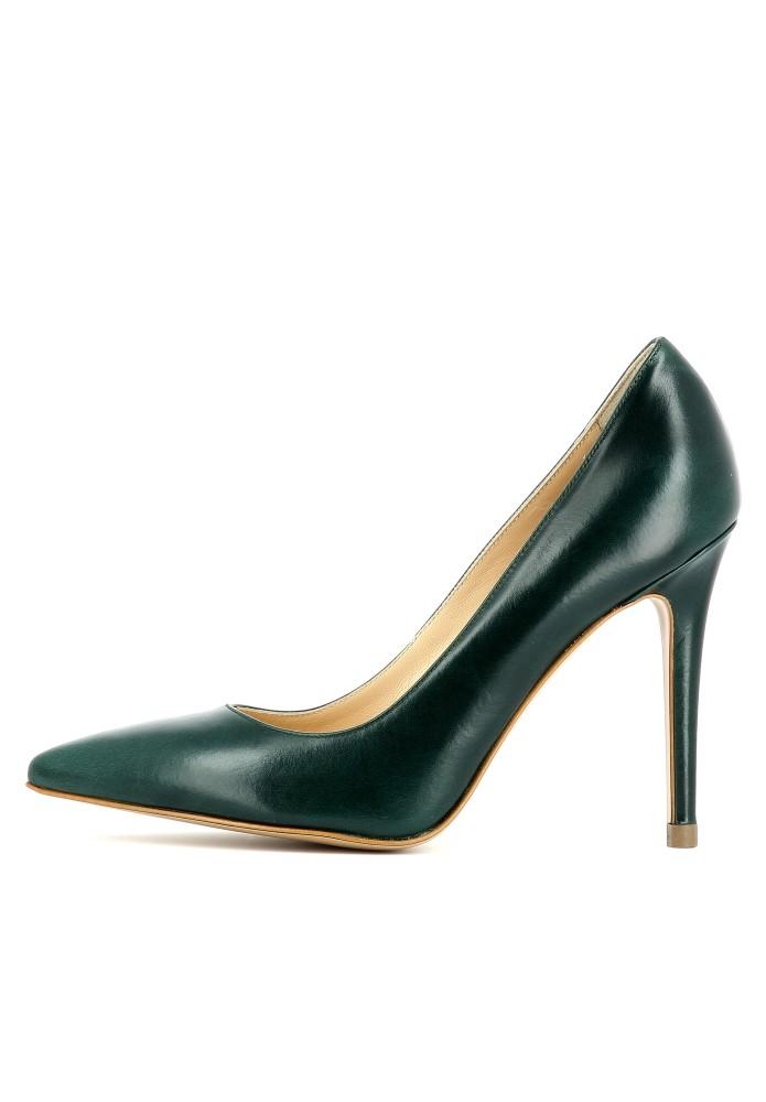 ALINA dunkelgrün - Glattleder