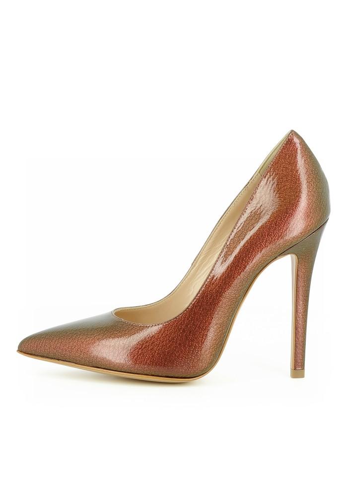 LISA bronze - Lackleder mit Prägung