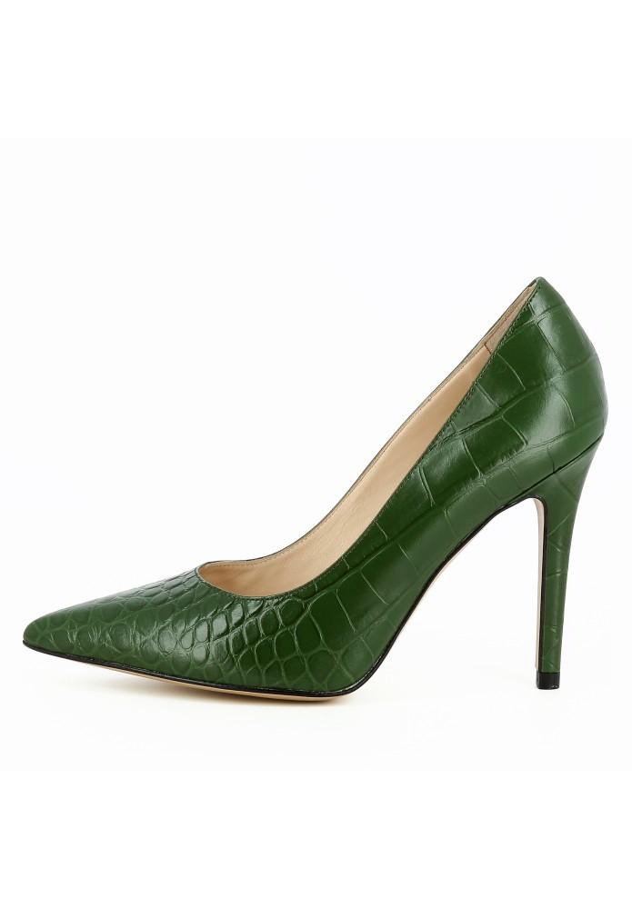 ALINA grün - Krokoprägung