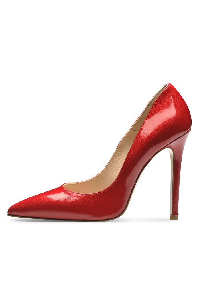 MIA rot - Lackleder mit Prägung